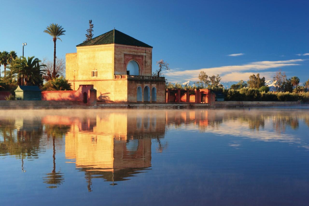 Pavillon et Bassin de la Ménara Marrakech