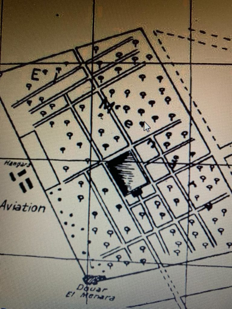 Jardin de la Menara Plan cartographique aerien