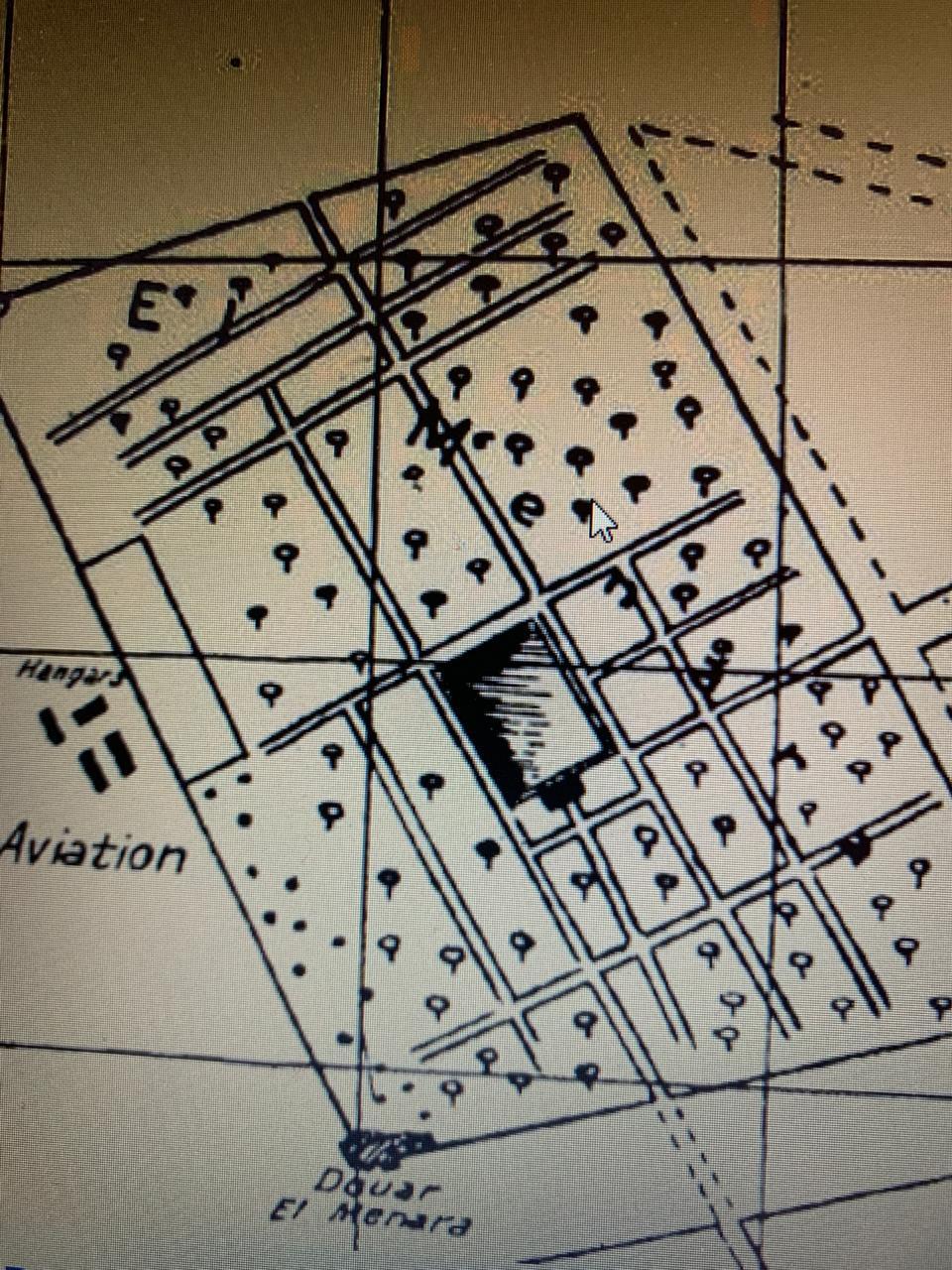 Jardin Menara Plan cartographique aerien
