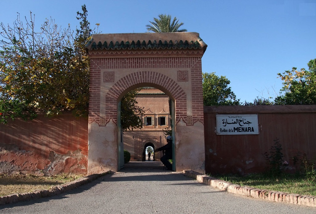 Pavillon de la Menara - entree Pavillion