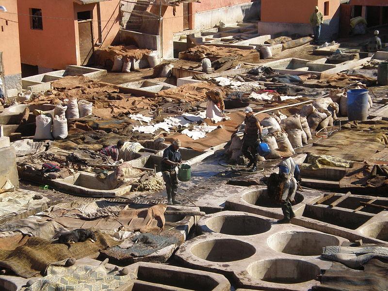 tanneur souk tannerie marrakech